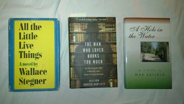 Three books acquired at Bell's Books, Palo Alto